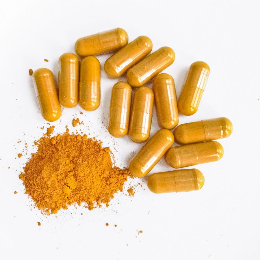 Food Supplement Product Turmeric Capsules